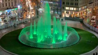 Площадь Омония: испытания нового фонтана