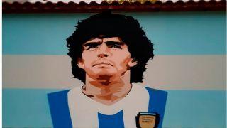 Граффити с Диего Марадоной на здании школы Салоников не понравилось родителям