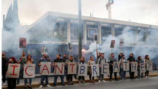 Акция протеста за Джорджа Флойда прошла в Афинах