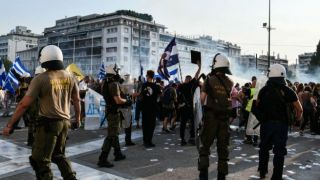 Полиция жестоко разогнала демонстрацию против обязательной вакцинации