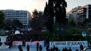 Мощная демонстрация в Афинах в поддержку Димитриса Куфонтинаса (видео)