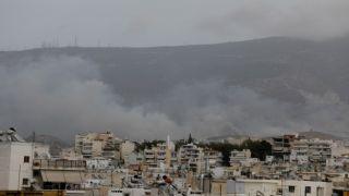 Масштабный пожар в Виронас