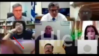 В неглиже появился муниципальный советник на видеоконференции