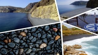 Единственный в мире «Черный»пляж находится в Греции