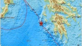 Землетрясение на Закинфе 3,9 Рихтера