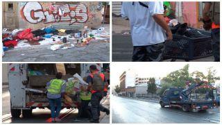 Полиция разогнала блошиный рынок в Пирее