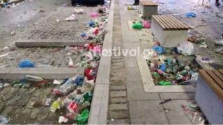«Хорошо отпраздновали»: после народных гуляний на улицах города собрали 300 тонн мусора
