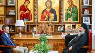 Митрополит Лангадасский провел встречу с Генконсулом США в Салониках