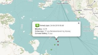 Три землетрясения свыше 3-х баллов за сутки около Афин