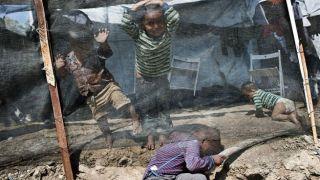 Лагерь беженцев на Лесбосе крайне переполнен