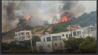 Крупный пожар рядом с Афинами