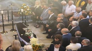 Алексис Ципрас на похоронах Гарри Клинна