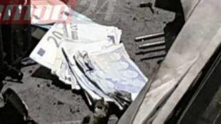 Патры: 20-евровые купюры усеяли тротуар  после взрыва банкомата