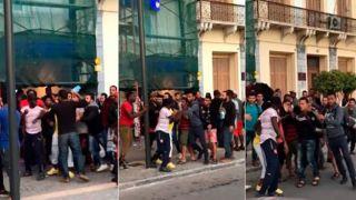 Мигранты подрались в очередях к банкоматам на Самосе (видео)