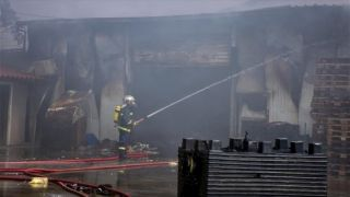 Коринфский супермаркет уничтожен пожаром