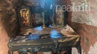 Ираклион: вандалы подожгли церковь