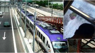 Аспропиргос: Забросали камнями пригородный поезд