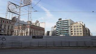 Реконструкция Афинской площади Омония будет завершена в феврале