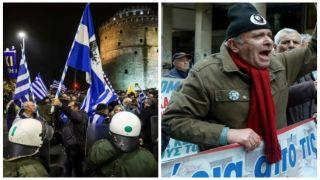 Протесты вызывают хаос в Афинах и в Салониках