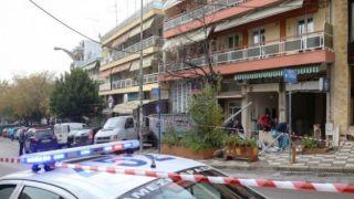 Мощный взрыв банкомата в Салониках