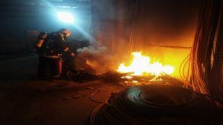Пожар на станции метро в Салониках