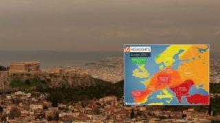 Греция:Лето с штормами, грозами и пожарами