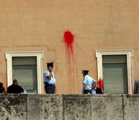 Анархисты напали на парламент Греции
