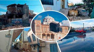 Землетрясение повредило здания и дороги на Самосе и в Измире в Турции
