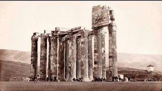История старого снимка или как монахи на храм Зевса Олимпийского залезли