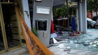 Салоники: взорвали банкомат и унесли добычу