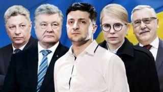 Выборы 2019: Пять лидеров президентской гонки. Очень коротко