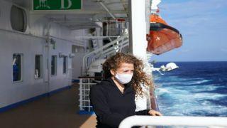 Ношение маски на открытых палубах паромов