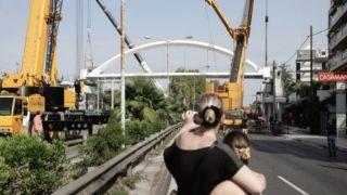 Проспект Посейдонос - Алимос: установлен пешеходный мост