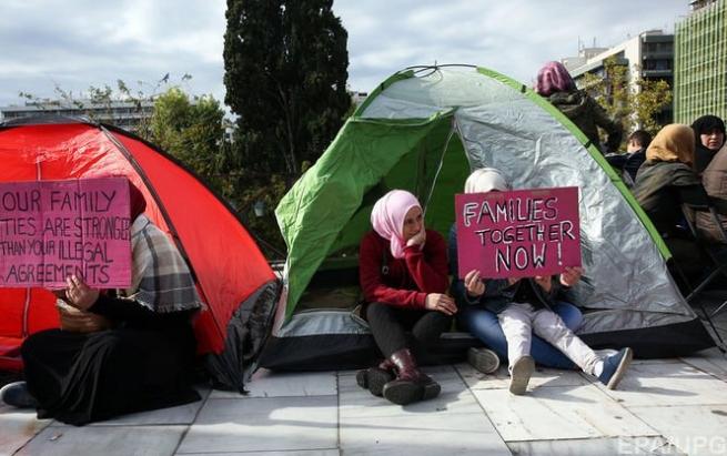 ВГреции беженцы протестуют против задержек ввоссоединении сродственниками вГермании