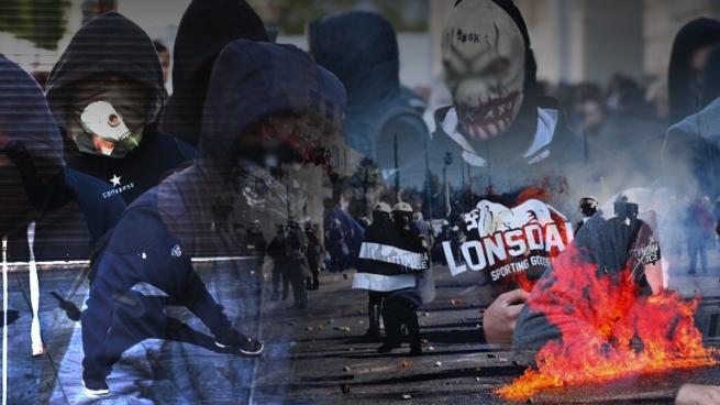 Милиция Афин применила слезоточивый газ против протестующих студентов