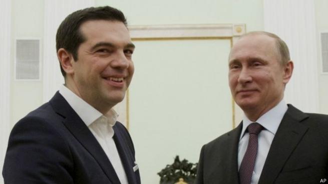 Премьер Греции навстрече сПутиным объявил обукреплении отношений сРоссией