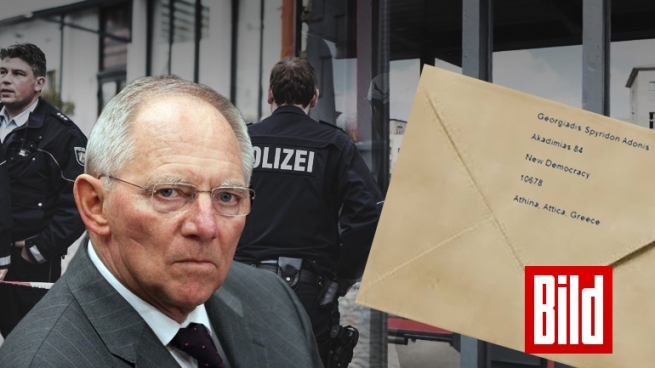 Первопричиной эвакуации изздания министра финансов ФРГ стал пакет совзрывчаткой