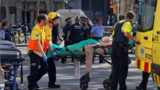ВБарселоне совершён теракт, есть жертвы ипострадавшие
