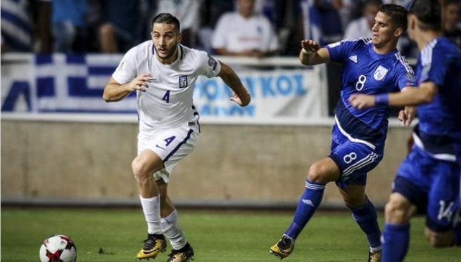 Манолас пропустит стыковой матч против Хорватии из-за дисквалификации