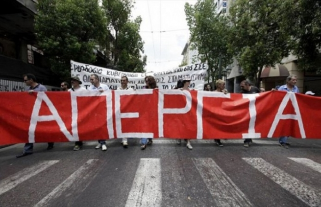 ВГреции началась всеобщая забастовка